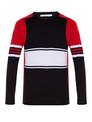 Givenchy Tri Colour Striped Sweater Black Multi