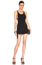 David Koma Side Cut Out Playsuit In Black