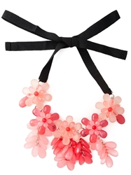 P.A.R.O.S.H. 'Newneck' Floral Bib Necklace Pink And Purple