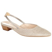 Peter Kaiser Castra Slingback Block Heeled Court Shoes Natural