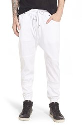 Men's Publish Brand 'Arch' Stretch Twill Jogger Pants White