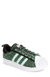 Men's Adidas 'Superstar' Glow In The Dark Sneaker Black Shock Mint White
