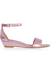 Marc By Marc Jacobs Metallic Leather Wedge Sandals