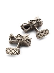 John Hardy Naga Dragon Head Cuff Links Silver