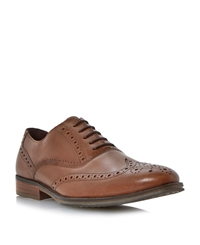 Linea Rallys Oxford Lace Up Brogues Tan
