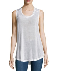 F.T.B By Fade To Blue Knit Racerback Tank White