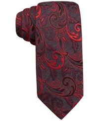 Alfani Spectrum Neptune Vine Slim Tie Only At Macy's Red