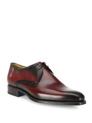 Sutor Mantellassi Oscar Plain Der Calfskin Leather Derby Shoes Aubergine