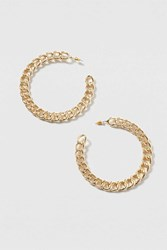 Topshop Chunky Chain Hoop Earrings Gold