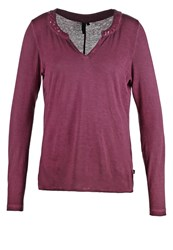 S.Oliver Denim Long Sleeved Top Red Wine Berry