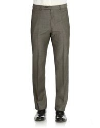 Calvin Klein Slim Fit Wool Dress Pants Charcoal