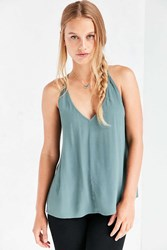 Silence And Noise Annabella Strappy Cami Green
