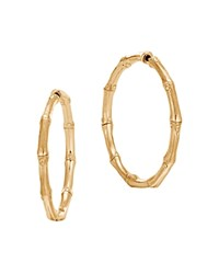 John Hardy 18K Yellow Gold Bamboo Medium Hoop Earrings
