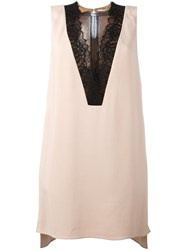 Lanvin Lace Insert Tank Top Nude And Neutrals