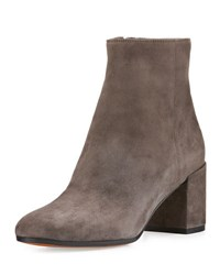 Vince Blakely Suede Block Heel Ankle Boot Steel