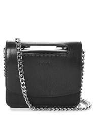 Jil Sander Chain Strap Leather Cross Body Bag Black