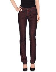Barbara Bui Denim Denim Trousers Women Maroon