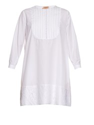 N 21 Lace Trim Cotton Poplin Dress