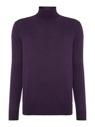 Chester Barrie Merino Roll Neck Purple