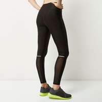 River Island Womens Ri Active Black Mesh Sports Leggings