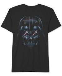 Men's Big And Tall Star Wars Darth Vader Close Up Graphic Print T Shirt From Jem Black
