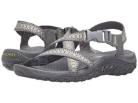 Skechers Reggae Kooky Gray Yellow Women's Sandals
