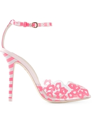 Sophia Webster Stripe And Leopard Print Sandals Pink And Purple