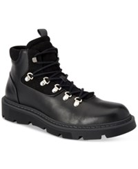 Calvin Klein Men's Raymon Smooth Leather Casual Boots Men's Shoes Black