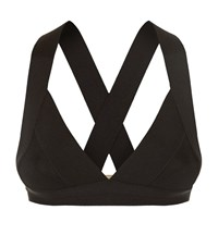 Herve Leger Summer Triangle Bikini Top Female Black