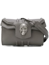 Philipp Plein 'Sea Skull' Crossbody Bag Grey