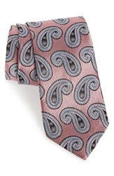 J.Z. Richards Men's Paisley Silk Tie Pink