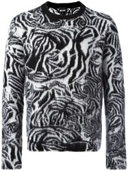 Just Cavalli Animal Print Jumper Black
