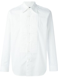 Comme Des Garcons Vintage Pleated Bib Shirt White