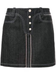 Paco Rabanne Mini Denim Skirt Black