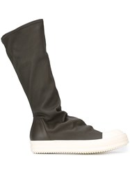 Rick Owens Sock High Top Boots Grey