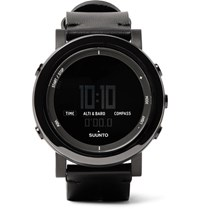 Suunto Essential Ceramic Stainless Steel And Leather Digital Watch Black