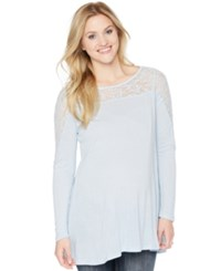 Wendy Bellissimo Maternity Lace Panel Blouse