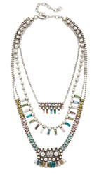 Dannijo Velia Necklace Multi Ox Silver