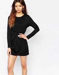 Wal G Dress With Twist Front Black