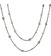 Annoushka Nectar Night Jasmine Rhodium Plated 18Ct White Gold And Sapphire Necklace