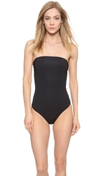 Marc By Marc Jacobs Lily Strapless Monokini Swimsuit Black