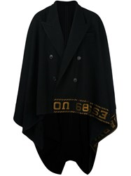 Juun.J Embroidered Cape Black