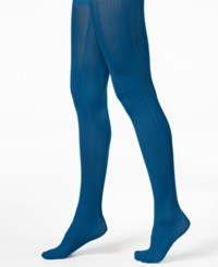 Hue Variegated Stripe Control Top Tights Catalina Blue