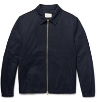 Club Monaco Linen And Cotton Blend Jacket Blue