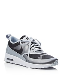 Nike Air Max Thea Jacquard Camouflage Lace Up Sneakers Platinum Black Grey