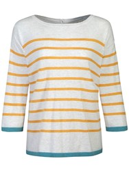 Seasalt West View Stripe Jumper Ayr Sienna