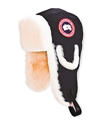 Canada Goose Men's Pilot Hat With Shearling Black