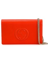 Gucci 'Soho' Chain Wallet Yellow And Orange