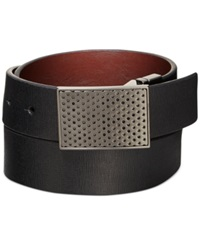 Kenneth Cole Reaction Perfect Plaque Reversible Belt Black Brown