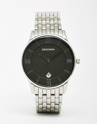 Sekonda Watch In Silver Stainless Steel Silver